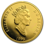 1990-2012 1/2 oz Gold Canadian $200 Proof - (Impaired)