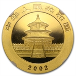 2002 1 oz Gold Chinese Panda MS-69 NGC