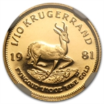 1981 1/10 oz Gold South African Krugerrand NGC PF-69 UCAM