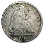1877 Seated Liberty Half Dollar Love Token R H B