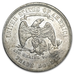 1877 Trade Dollar - Almost Uncirculated - Chopmark