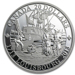 2013 1 oz Silver Canadian $20 300th Anniversary of Louisbourg