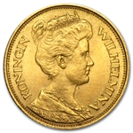 Netherlands 1912 Gold 5 Gulden AGW .09373 - AU