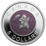 2013 Silver & Niobium Canadian $5 Mother and Baby Ice Fishing