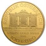 2013 1 oz Gold Austrian Philharmonic PCGS MS-70