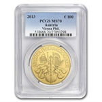 2013 1 oz Gold Austrian Philharmonic MS-70 PCGS