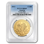 2013 1 oz Gold Austrian Philharmonic PCGS MS-69