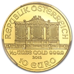 2013 1/10 oz Gold Austrian Philharmonic PCGS MS-70 Registry Set