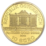 2013 1/10 oz Gold Austrian Philharmonic PCGS MS-69