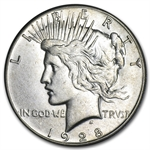 1928 Peace Dollar - Almost Uncirculated-58