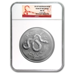 2013 1 Kilo 32.15 oz Silver Year of the Snake (SII) NGC MS-70