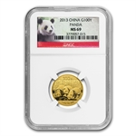 2013 (1/4 oz) Gold Chinese Panda - MS-69 NGC