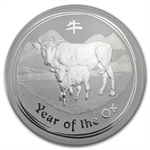 2009 1 kilo (32.15 oz) Silver Year of the Ox Coin NGC MS-70 (SII)