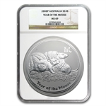 2008 1 Kilo Silver Year of the Mouse Coin (SII) NGC MS-69