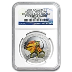 Tuvalu 2013 Silver $1 The Frilled Neck Lizard - PF-70 UCAM NGC-ER