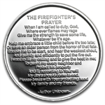 1 oz Firefighter's Prayer Silver Round - Plain (w/Gift Box & Cap)