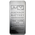 10 oz Johnson Matthey Silver Bar (Sealed, Very Nice)