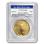 2006-W 1/4 oz Gold American Eagle MS-69 PCGS - West Point Label