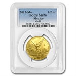 2013 1/2 oz Gold Mexican Libertad MS-70 PCGS