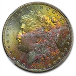 1881-S Morgan Dollar MS-67 Star NGC CAC - Pink and Gold Obverse
