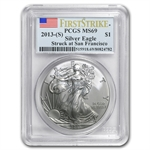 2013 (S) Silver American Eagle - MS-69 PCGS - First Strike