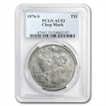 1876-S Trade Dollar - Almost Uncirculated-53 Chop Marks PCGS