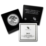 2013-P 5 oz Silver ATB - Great Basin w/ Box & COA