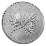 2011 1/2 oz Silver Canadian $10 Maple Leaf Forever MS-69 PCGS