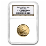 2007 4-Coin Proof Gold Britannia Set NGC PF-69 Ultra Cameo