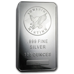 100 oz Sunshine Silver Bar .999 Fine (V2)