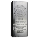 100 oz 1984 Sunshine Silver Bar (Vintage, Struck) .999 Fine