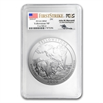 2010-P 5 oz Silver ATB Yellowstone PCGS SP-69 PCGS(FS) - Mercanti
