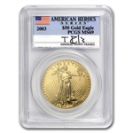 2003 Tommy Franks Gold Eagle Set MS-69 PCGS