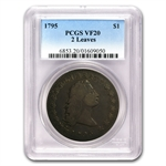 1795 Flowing Hair Dollar Very Fine-20 PCGS - 2 Leaves
