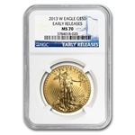 2013-W 1 oz Burnished Gold Eagle NGC MS-70 (ER)
