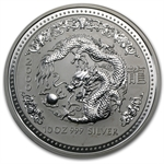 2000 10 oz Silver Lunar Year of the Dragon (SI) Light Abrasions