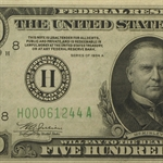1934-A (H-St. Louis) $500 Federal Reserve Note (Very Fine+)