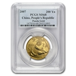 2007 (1/2 oz) Gold Chinese Pandas - MS-68 PCGS