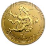 2012 1/2 oz Gold Lunar Year of the Dragon (SII) PCGS MS-69 FS