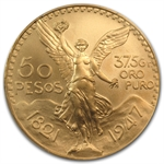 Mexico 1947 50 Peso Gold Coin MS-69 PCGS (Restrike)