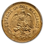 Mexico 1955 5 Pesos Gold Coin MS-69 PCGS (Restrike)