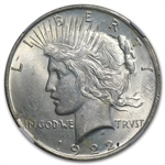 1922 Peace Dollar MS-63 NGC Cracked Planchet Mint Error