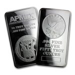 50 oz Silver Bar (Secondary Market) .999 Fine