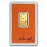 10 gram Valcambi Gold Bar (In Assay) .9999 Fine