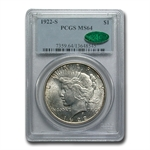 1922-S Peace Dollar MS-64 PCGS - CAC
