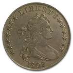 1802 Draped Bust Dollar Almost Uncirculated - Cleaned PCGS