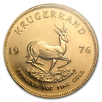 1976 1 oz Gold South African Krugerrand PCGS MS-66 (WTC)