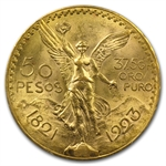 Mexico 1923 50 Peso Gold Coin MS-63+ PCGS