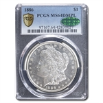 1886 Morgan Dollar MS-64 DMPL Deep Mirror Proof Like PCGS - CAC