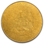1855 $1 Indian Head Gold - Fair-2 PCGS Low Ball
